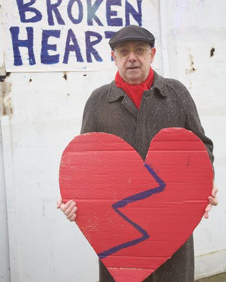 Campaigners held a protest outside the site on Valentine's Day (Pic: Adam Tiernan Thomas)