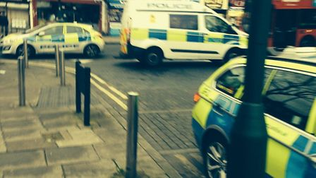 Police and paramedics at the scene in Neasden (Pic: Francis Henry)