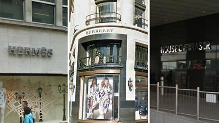 Clarke targeted Hermès, Burberry and House of Fraser stores (pic: Google)