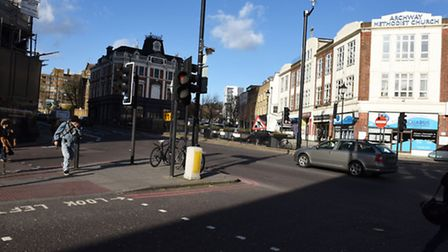 Site scene of Archway Junction ahead of plans to introduce more cycle lanes