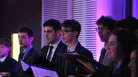 The choir of the Jewish Free School gave a moving performance to honour Jews and minorities who were