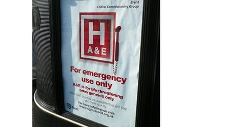 The A&E poster has been banned by the Advertising Standards Agency