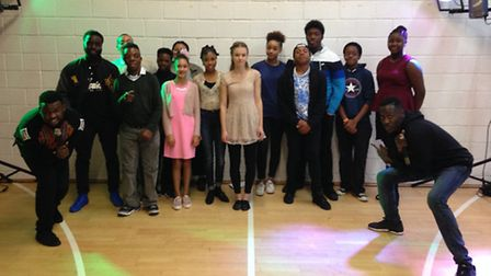 Members of Mary's Youth Club, in Upper Street, Islington, celebrate the �325,000 grant it has receiv