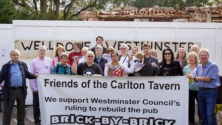 Rebuild The Carlton Tavern campaigners are determined their demolished pub in Carlton Vale is rebui
