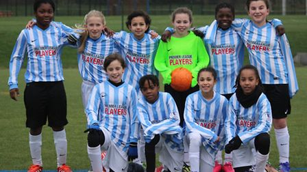 The Brent-Under 11 girls squad which won their opening league fixture 1-0 against Lewisham at the we