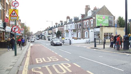 Drivers are unable to see the 'no right turn' signs if a bus is in the inside lane (Pic: Adam Thomas