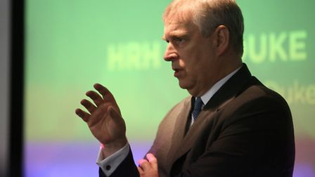 Prince Andrew talking at Pitch@Palace