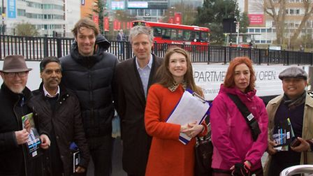 Mr Goldsmith joined with fellow Conservative campaigners including Cllr Joel Davidson to support the