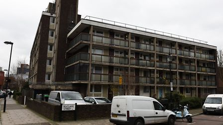 A police officer was yesterday stationed outside the flat on the top floor of Jessop Court, off Grah