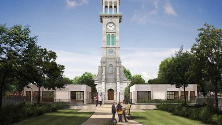 Caledonian Park Clock Tower, Cafe and Toilets Project - 2016 Artist's Impression