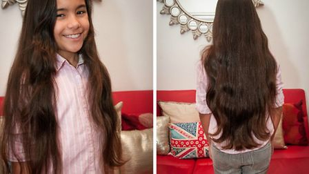 Sophia Malta will cut off 15 inches (38cm) of her hair to donate to charity