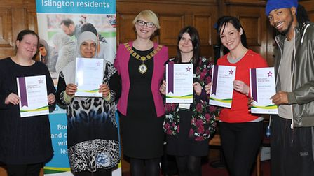 Happy awardees with Islington's Deputy Mayor, Cllr Kat Fletcher