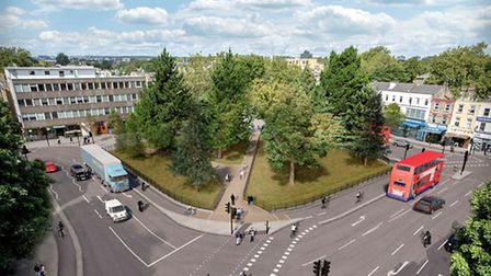 One option provided in the consultation document suggests the addition of a pedestrian crossing to p