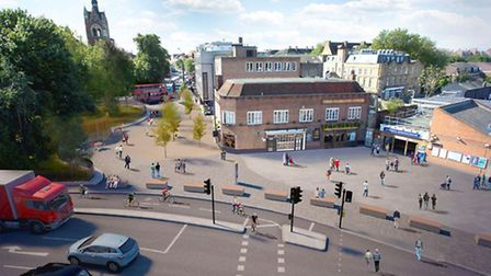 An artist impression of the plans with a view of Highbury and Islington station