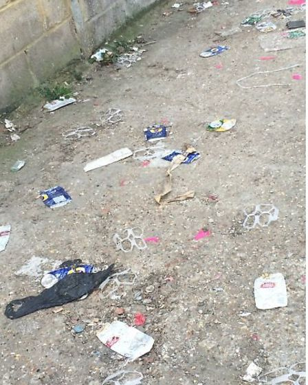 A trail of litter from the shop led to the nearby park (Pic: Brent Council)