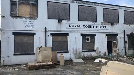 The Royal Court Hotel, in Lowestoft, which has stood empty for more than a decade. PHOTO: Saf Khan