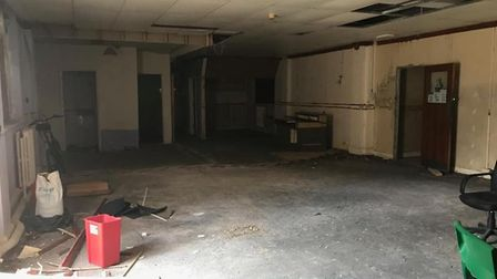 Inside the Royal Court Hotel, in Lowestoft, prior to work starting to renovate the building. PHOTO: