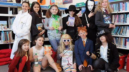 Year 5 pupils dressed up for World Book Day at Yerbury School in Foxham Road, Upper Holloway