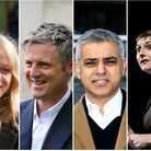 Mayoral candidates: Sian Berry (Green), Zac Goldsmith (Tory), Sadiq Khan (Lab) and Caroline Pidgeon