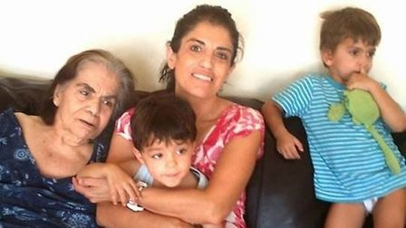 Anahita Behrooz and her children before their grandmother Mahbubeh went into care at Landsdowne Care