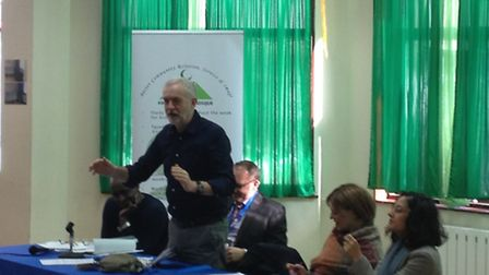 Jeremy Corbyn addresses Finsbury Park Mosque in a special meeting to discuss Islamophobia experience