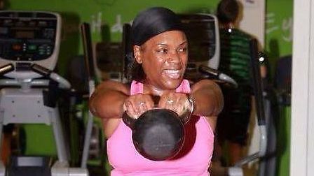 Using a kettlebell helps you to lose weight and tone up (Pic: Angela Blake)