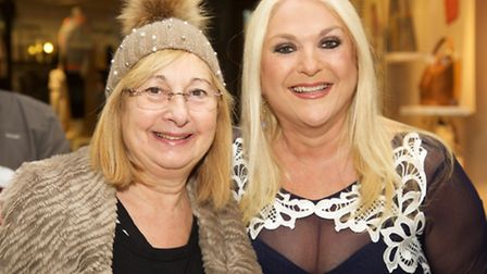 Maureen Klein with Vanessa Feltz at the Brent Cross shopping centre's 40th birthday. Pic credit: Ada