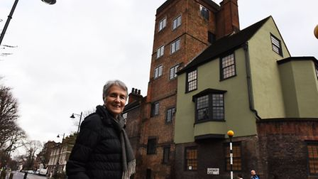 Canonbury Tower in Islington. . Tour guide Mary Bond