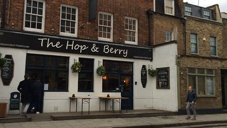 The Hop & Berry pub in Liverpool Road, Barnsbury, Islington. Picture: Ken Mears