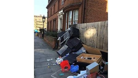 Fly-tippers strike next door to Harlesden Police Station (Pic: Laurence Conneely)