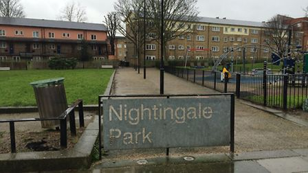 Nightingale Park in Canonbury, where Stefan Appleton received a fatal blow to the chest with a mache