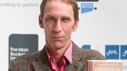 Will Self with his book 'Umbrella', he is shortlisted for the 2012 Man Booker prize for fiction, at