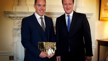 Colin Hegarty with PM David Cameron