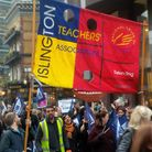 Islington NUT members at protest