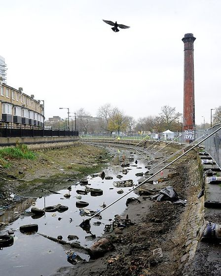 Litter in the Regent's Canal