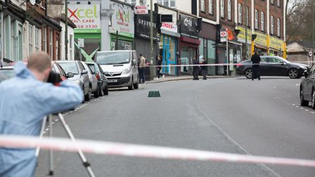Two men have been shot in Cricklewood Lane (Pic: Jonathan Goldberg)