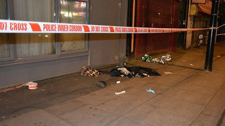 A 17-year-old boy and man, 20, were stabbed in Queen's Park (Pic: Santino Pani))