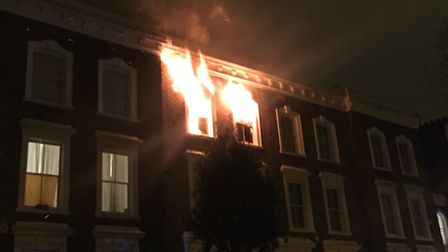Six fire crews were called to the blaze in Crowland Terrace, Canonbury, in the early hours of this m