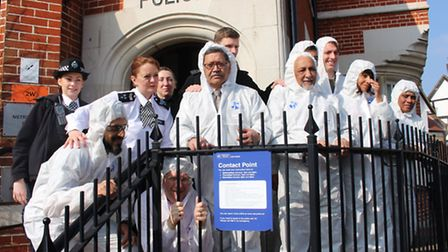 Cllr Joel Davidson and seven other community members raised �8,000 for St Luke's Hospice Jail and Ba