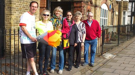 Friends of Barham Library volunteers headed by Paul Lorber are busy getting the new library ready fo
