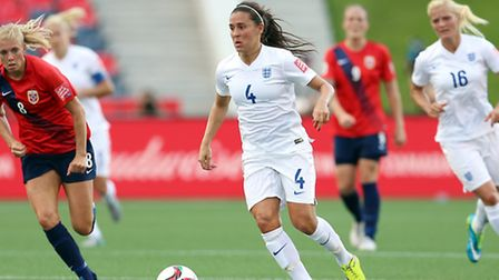 Fara Williams in action for England against Norway during the FIFA Women's World Cup in 2015