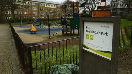 Nightingale Park in Canonbury, where Stefan Appleton was killed last year. Picture: Ken Mears