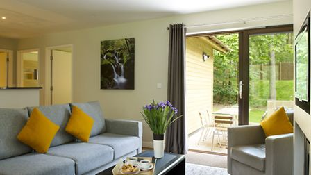 A three-bedroom woodland lodge at Center Parcs Woburn Forest. Picture: Center Parcs