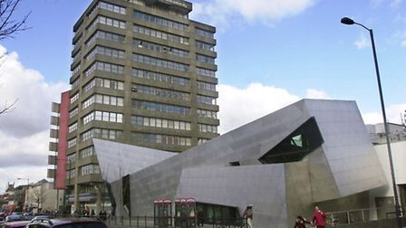 London Metropolitan University's campuss in Holloway Road, near to where the student was attacked on