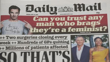 A masthead for a former edition of the Daily Mail.