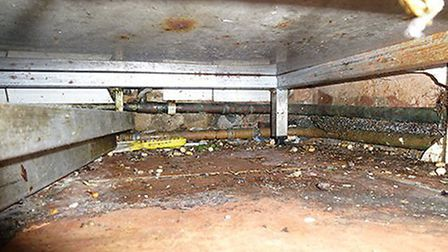 The cooking area was found to be caked in dirt (Pic: Hammersmith & Fulham Council)
