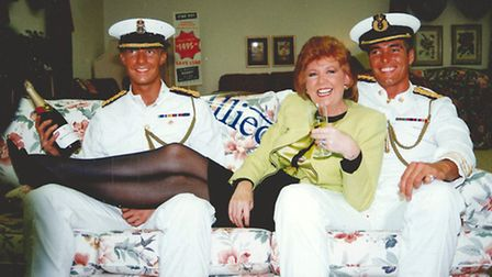 The Dreamboys with television personality Cilla Black