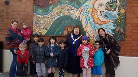 Local parents and children joined the mayor of Brent for an afternoon of face painting and musical f