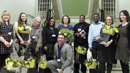 Staff and volunteers from the Community Advice service, based in Highbury Corner Magistrates' Court,