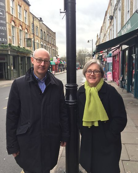 Simon Birkett of Clean Air and Cllr Caroline Russell of the Green Party